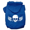 Mirage Pet Products Skull Wings Screen Print Pet Hoodies Blue Size Sm (10)