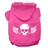 Mirage Pet Products Skull Wings Screen Print Pet Hoodies Bright Pink Size Sm (10)