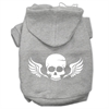 Mirage Pet Products Skull Wings Screen Print Pet Hoodies Grey Size XL (16)