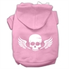 Mirage Pet Products Skull Wings Screen Print Pet Hoodies Light Pink Size Sm (10)