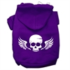 Mirage Pet Products Skull Wings Screen Print Pet Hoodies Purple Size Sm (10)
