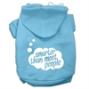 Mirage Pet Products Smarter then Most People Screen Printed Dog Pet Hoodies Baby Blue Size Lg (14)