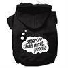 Mirage Pet Products Smarter then Most People Screen Printed Dog Pet Hoodies Black Size XS (8)