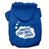 Mirage Pet Products Smarter then Most People Screen Printed Dog Pet Hoodies Blue Size Sm (10)