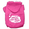Mirage Pet Products Smarter then Most People Screen Printed Dog Pet Hoodies Bright Pink Size Med (12)