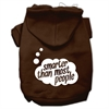 Mirage Pet Products Smarter then Most People Screen Printed Dog Pet Hoodies Brown Size Med (12)