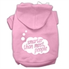 Mirage Pet Products Smarter then Most People Screen Printed Dog Pet Hoodies Light Pink Size XL (16)