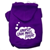 Mirage Pet Products Smarter then Most People Screen Printed Dog Pet Hoodies Purple Size Lg (14)