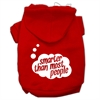 Mirage Pet Products Smarter then Most People Screen Printed Dog Pet Hoodies Red Size XXXL (20)