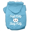 Mirage Pet Products Softy Kitty, Tasty Kitty Screen Print Dog Pet Hoodies Baby Blue Size XXL (18)