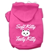 Mirage Pet Products Softy Kitty, Tasty Kitty Screen Print Dog Pet Hoodies Bright Pink Size Sm (10)