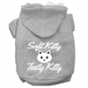 Mirage Pet Products Softy Kitty, Tasty Kitty Screen Print Dog Pet Hoodies Grey Size XL (16)