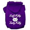 Mirage Pet Products Softy Kitty, Tasty Kitty Screen Print Dog Pet Hoodies Purple Size Med (12)
