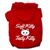 Mirage Pet Products Softy Kitty, Tasty Kitty Screen Print Dog Pet Hoodies Red Size Sm (10)