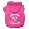 Mirage Pet Products Spoiled for 8 Days Screenprint Dog Pet Hoodies Bright Pink Size Sm (10)