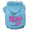 Mirage Pet Products New Bitch in Town Screenprint Hoodie Baby Blue XXXL(20)