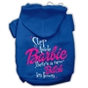 Mirage Pet Products New Bitch in Town Screenprint Hoodie Blue XS (8)