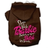 Mirage Pet Products New Bitch in Town Screenprint Hoodie Brown L (14)