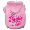 Mirage Pet Products New Bitch in Town Screenprint Hoodie Light Pink XXXL(20)