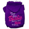 Mirage Pet Products New Bitch in Town Screenprint Hoodie Purple XS (8)
