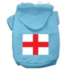 Mirage Pet Products St. George's Cross (English Flag) Screen Print Pet Hoodies Baby Blue Size Med (12)