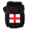 Mirage Pet Products St. George's Cross (English Flag) Screen Print Pet Hoodies Black Size XL (16)
