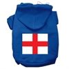 Mirage Pet Products St. George's Cross (English Flag) Screen Print Pet Hoodies Blue Size Sm (10)
