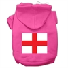 Mirage Pet Products St. George's Cross (English Flag) Screen Print Pet Hoodies Bright Pink Size Med (12)
