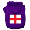 Mirage Pet Products St. George's Cross (English Flag) Screen Print Pet Hoodies Purple Size Med (12)
