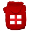 Mirage Pet Products St. George's Cross (English Flag) Screen Print Pet Hoodies Red Size Med (12)