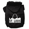 Mirage Pet Products St Louis Skyline Screen Print Pet Hoodies Black Size XL (16)