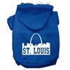 Mirage Pet Products St Louis Skyline Screen Print Pet Hoodies Blue Size XS (8)