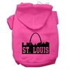 Mirage Pet Products St Louis Skyline Screen Print Pet Hoodies Bright Pink Size Sm (10)