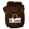 Mirage Pet Products St Louis Skyline Screen Print Pet Hoodies Brown Size Med (12)
