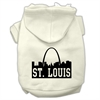 Mirage Pet Products St Louis Skyline Screen Print Pet Hoodies Cream Size XS (8)