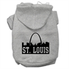 Mirage Pet Products St Louis Skyline Screen Print Pet Hoodies Grey Size XXXL (20)