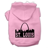 Mirage Pet Products St Louis Skyline Screen Print Pet Hoodies Light Pink Size XL (16)