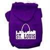 Mirage Pet Products St Louis Skyline Screen Print Pet Hoodies Purple Size XS (8)