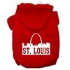 Mirage Pet Products St Louis Skyline Screen Print Pet Hoodies Red Size Sm (10)