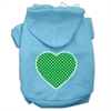 Mirage Pet Products Green Swiss Dot Heart Screen Print Pet Hoodies Baby Blue Size Med (12)