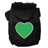 Mirage Pet Products Green Swiss Dot Heart Screen Print Pet Hoodies Black Size XXL (18)