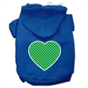 Mirage Pet Products Green Swiss Dot Heart Screen Print Pet Hoodies Blue Size XXXL (20)
