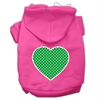 Mirage Pet Products Green Swiss Dot Heart Screen Print Pet Hoodies Bright Pink Size Sm (10)