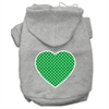 Mirage Pet Products Green Swiss Dot Heart Screen Print Pet Hoodies Grey Size XXXL (20)