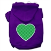 Mirage Pet Products Green Swiss Dot Heart Screen Print Pet Hoodies Purple Size XXXL (20)