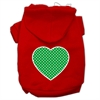 Mirage Pet Products Green Swiss Dot Heart Screen Print Pet Hoodies Red Size Sm (10)