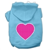Mirage Pet Products Pink Swiss Dot Heart Screen Print Pet Hoodies Baby Blue Size XXXL (20)