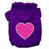 Mirage Pet Products Pink Swiss Dot Heart Screen Print Pet Hoodies Purple Size XS (8)