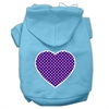 Mirage Pet Products Purple Swiss Dot Heart Screen Print Pet Hoodies Baby Blue Size XS (8)