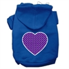 Mirage Pet Products Purple Swiss Dot Heart Screen Print Pet Hoodies Blue Size Sm (10)